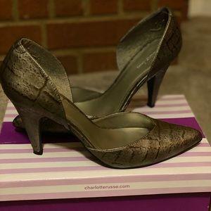 Cute Gray heels/pumps